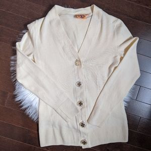 Tory Burch merino wool cream cardigan